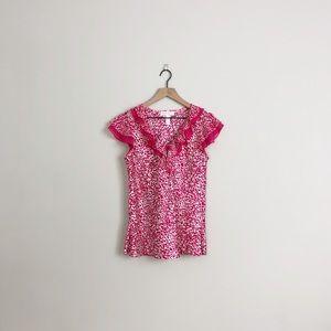 Oscar de la Renta | pink label animal print blouse